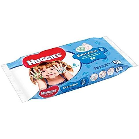 Huggies HandsTravel Pack - Toallitas para bebé, 24 unidades