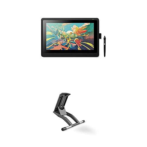 """Wacom Cintiq 16 Display Interattivo e Penna Pen PRO 2 - Tavoletta Grafica con Schermo LCD 16"""" per Disegno Digitale Full HD, Compatibile con Windows & OS X, Nero + Supporto Regolabile"""