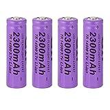 4 teile/satz Lila 14500 3,7 V 2300 mAh Li-Ion Akku Ersatz Batterie Für Taschenlampe
