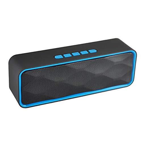 ZUZEN Drahtlose Outdoor-Bluetooth Lautsprecher Car Intelligent Subwoofer Dual Speaker USB Charging Pluggable TF Card kompatibel Apple Android Phone,Blue