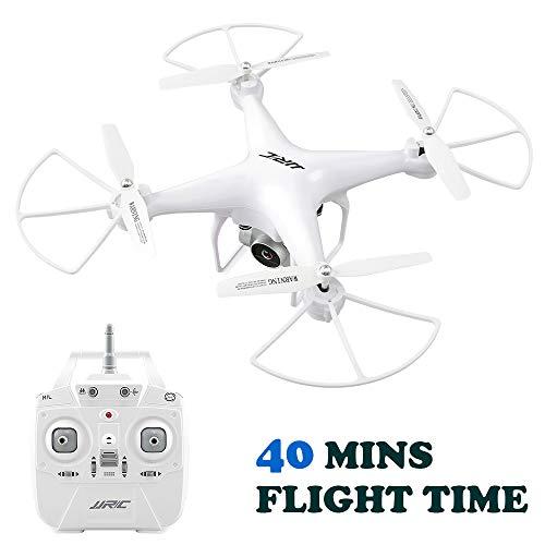 40 Minuti di Tempo di Volo RC Drone, H68 FPV Quadcopter con 720P HD Fotocamera Live Video Trasmissione in Tempo Reale Altoparlante Hold Mode Altitude Hold Helicopter 2 Batteries - Bianco