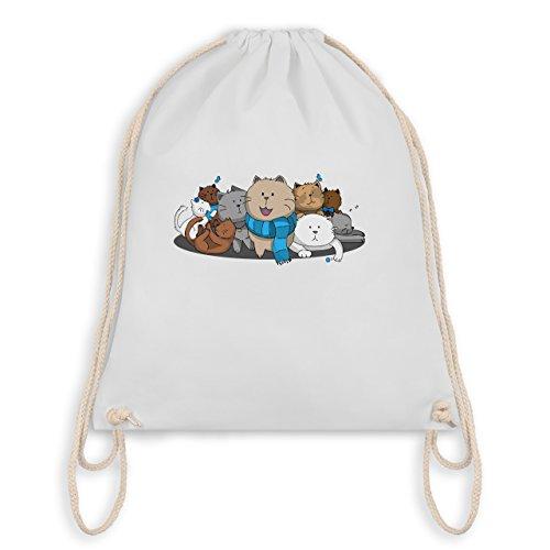 Katzen süße Bag Katzen Weiß Turnbeutel I Gym rrCUqdw