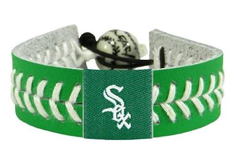 MLB Chicago White Sox St. Patrick's Day Baseball Bracelet