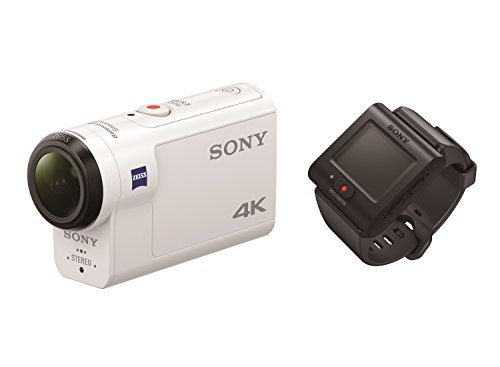 Sony Action CAM FDR-X3000R - Videocámara (4K, tecnología Balanced Optical SteadyShot, WiFi, GPS, FullHD), Blanco