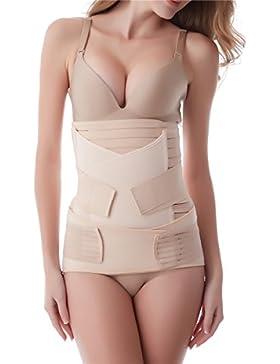 3 en 1 Faja Postparto Reductora Mujer Recuperación después del Parto , Cinturón cómoda de vientre/cintura/pelvis...
