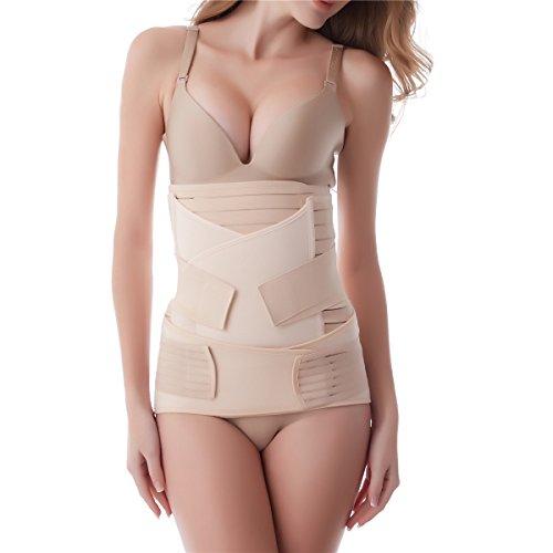 3 in 1 Belt für Postpartale Unterstützung Bauch Gürtel Body Shaper Recovery Hohe Elastische Bauchgurt nach Geburt -