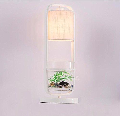 SSBY Moda Led camera da letto comodino retrò lampada da tavolo nuovo americano cinese soggiorno (Vecchio Bronzo 2 Lampadina)
