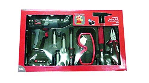 Preisvergleich Produktbild Gowi 556-11 Akkuschrauber Professional Set, KofferSpielwerkzeug, 11 teilig