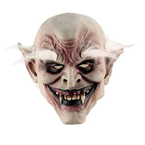 Kostüm Weiß Maskierte - AWJQ Holiday Party Supplies Halloween Latex Maske Horror Maske Mit Hut Maskerade Halloween Kostüm Bar, Weiß