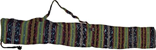 Tasche für Didgeridoos aus Ikatstoff (verschiedene Groessen wählbar) (für-Didges-von-120-130-cm)