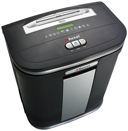 Rexel Mercury RSM1130 Aktenvernichter für Kleinbüros, Mikroschnitt, Manueller Einzug, 30L Entnehmbarer Abfallbehälter, 11 Blatt Kapazität, Inkl. Aktenvernichter Ölblätter schwarz