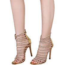 ZARLLE Zapatos Verano Sandalias Plataforma Toe Alto TacóN Casual Zapatos Las Mujeres Sandalias De Tacon Fiesta Vestido De Novia Zapatos Sandalias De Charol De Cristal Zapatos De Playa