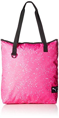 PUMA Damen Fundamentals Shopper II Tasche, Knockout Pink-Puma White-Speckle, 40 x 44 x 1.5 cm