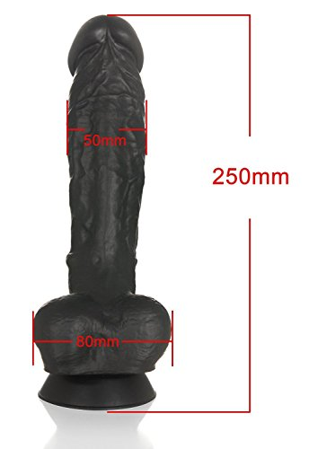 Deluxe Silikon Real Dong Dildo (500 Gramm) big player, extra starker Saugnapf - 3