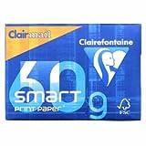 Clairefontaine 5 x Kopierpapier A4 Clairmail smart 60g/qm weiß VE=500 Blatt