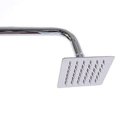 10x 10cm soffione doccia con Antikalk ugelli, Soffione doccia Soffione doccia (022rettangolare)