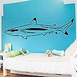 BailongXiao Fun Shark Wall Art Stickers Adhesivos de Pared murales decoración de la habitación de los niños Tatuajes de Pared 20x66cm