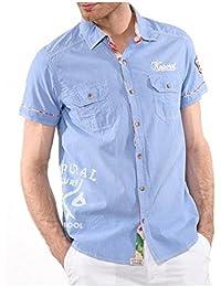 chemise manches courtes kaporal 5 zurfa bleu