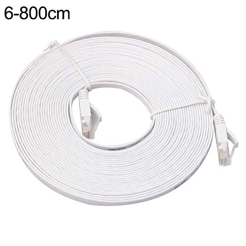 dandeliondeme Cat 6Ethernet Kabel, 0,5-15m Cat6Speed Gigabit Ethernet Network LAN Flach Kabel UTP Patch Router Kabel 8M weiß (Weiße Xbox 360-network Adapter)