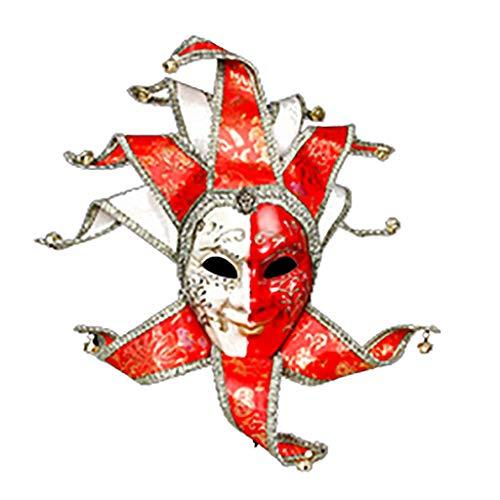 Masken für Erwachsene Masken-Halloween-venezianische Maskerade Clown Vollgesicht männliche -