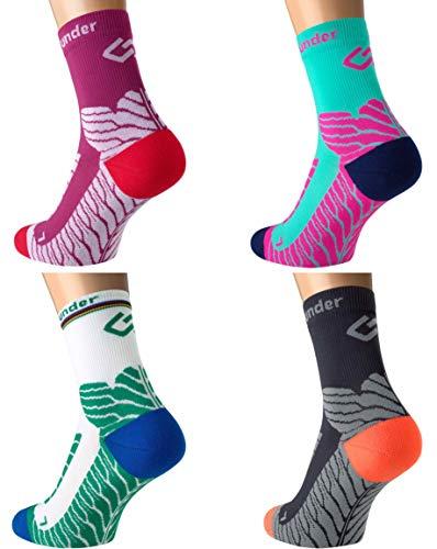 Sport Kompressions Socken \'Under Pressure SOCKX\' - Höchste Qualität, Made in Germany! (anthrazit, 43-46)