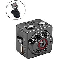 KOBWA Mini Vigilancia Cámara Oculta Gran Angular Full HD 1080P Videocámara de Seguridad Portátil DV Pequeña Cámara de Niñera con Visión Nocturna por Infrarrojos y Detección de Movimiento