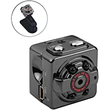 KOBWA Mini Vigilancia Cámara Oculta Gran Angular Full HD 1080P Videocámara  de Seguridad Portátil DV Pequeña 6cc13a97d6