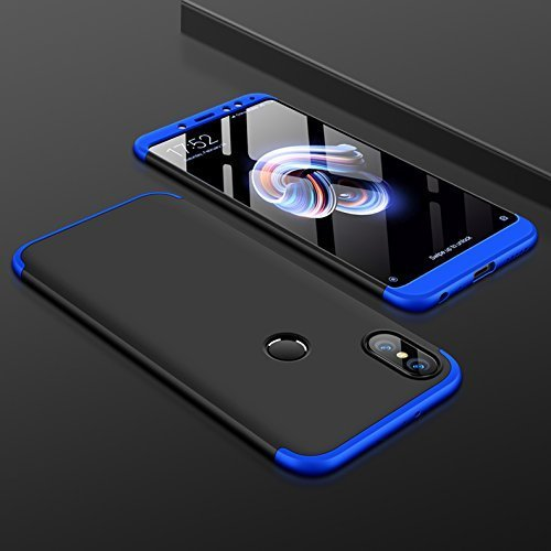 official photos 77b5e e6662 Mobiclonics 3 in 1 Double Dip Case All Angle Protection Matte Hard Back  Case Cover for Xiaomi Redmi Mi Y2-Black with Blue