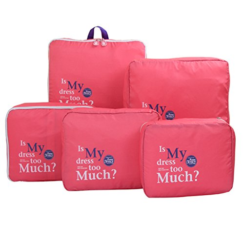 5pcs / set Abbigliamento impermeabile Borse bagagli