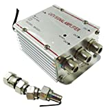 aumenta il segnale digitale terrestre laddove serve!Amplificatore per antenne Tv, analogica o digitale 3 uscite