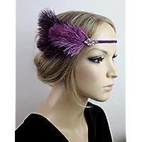 Haarschmuck Haarband Vintage 20er Jahre Flapper Stirnband Federn Kopfschmuck