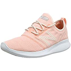 New Balance Fuel Core Coast v4, Zapatillas de Running para Mujer, Rosa (Pink Mist/White Peach/Champagne Metallic Rc4), 40 EU