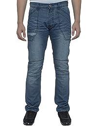 ENZO Homme Décontracté délavé De marque Droit Coupe Standard Jeans Jean Homme Tailles 28-42