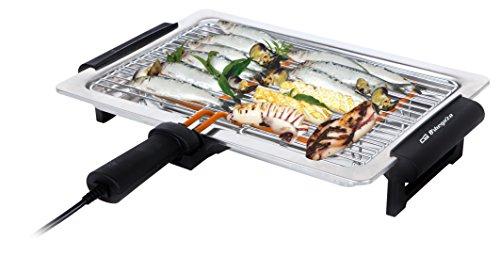 Orbegozo BC 3651 - Barbacoa eléctrica de sobremesa, 1600 W, 41 x 29 cm