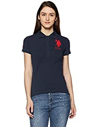 US POLO Women's Band Collar T-Shirt