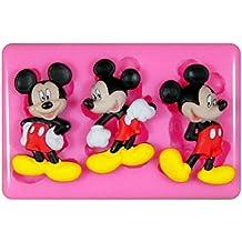 Mickey Mouse Molde de silicona para la torta de Decoración Pastel de Cupcake Toppers Glaseado Sugarcraft