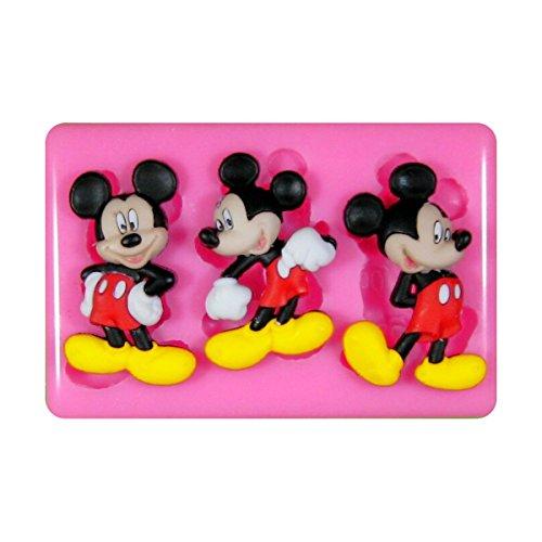 Mickey Maus Mouse Silikon Form für Kuchen Dekorieren, Kuchen, kleiner Kuchen Toppers, Zuckerglasur Sugarcraft Werkzeug durch Fairie Blessings (Push-pins Mickey)