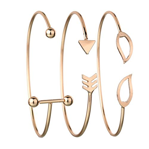 MATAIYANG Damen Simple Louver Arrow Kreatives Bettelarmband -