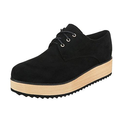 design Baixo Sapatos Oxford Pretos ital Schnürer De Sapatos Lace Senhoras qfxHUanwXn