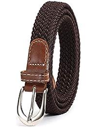 Nuevo estilo Colores sólidos Accesorios de cinturón elástico Tela de moda  Cinturones trenzados para hombres y a39adc84fe30