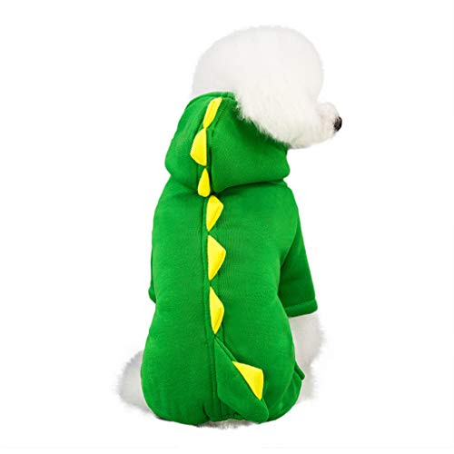 Funny Halloween Hunde Dinosaurier Kostüm Jacke Mantel Warm Winter Hund Kleidung Hoodie by Dragon868 (S, - Pet Dinosaurier Kostüm