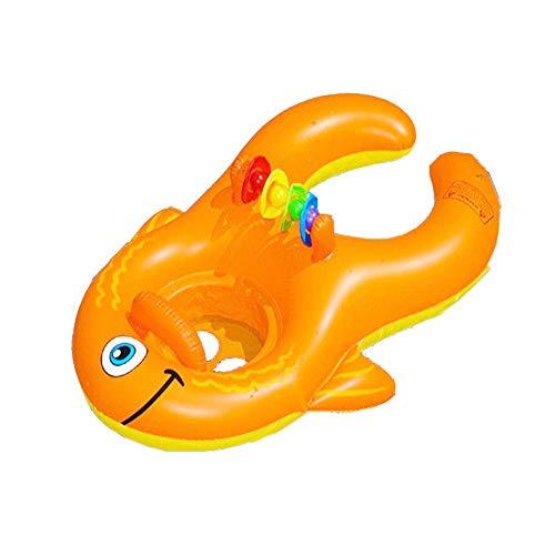 Sumpll gonfiabile fila galleggiante forma di pesce tropicale anello di nuoto interattivo genitore-figlio piscina reclinabile letto aria spiaggia materiale ecologico in pvc (100 * 70cm)