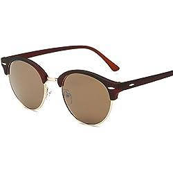 Aierwish Herren und Damen Neue Retro Klassik Runde Sonnenbrille Mit Brillenbox (4)