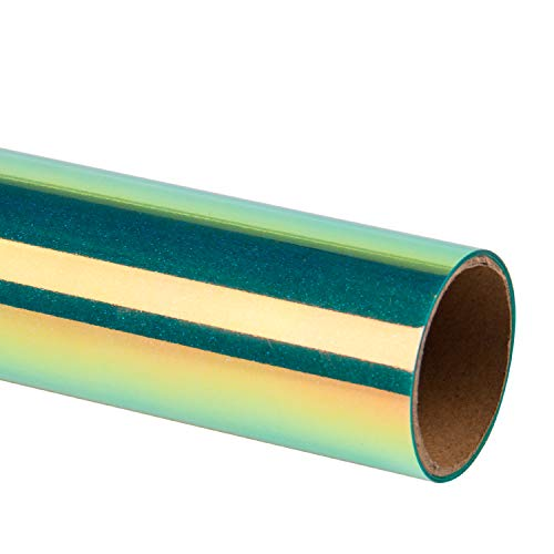 RUSPEPA Glitter Heat Transfer Vinyl - Metallic Irisierende Folie Leicht Abzugrotzen Auf Htv Für T-Shirts, Garment Heat Press - 30,5 X 50 Cm - Grün