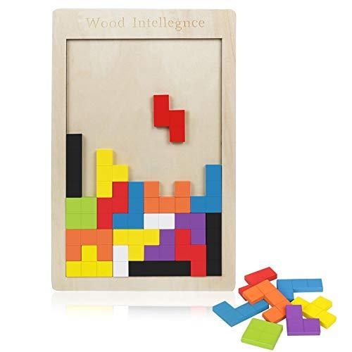 69e6d444f165 Meerveil Soma Madera Tetris Juguete Puzzle Rompecabezas Jigsaw Juego Mágico para  Niños