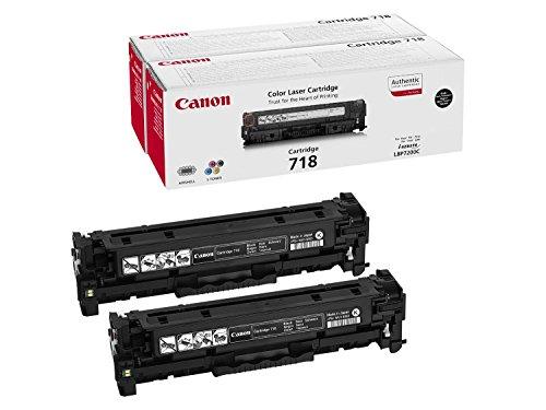 Preisvergleich Produktbild 1x Original Canon Toner Doppelpack 2662B005 CRG 718 CRG718 für Canon I Sensys MF 8540 Cdn - Black -