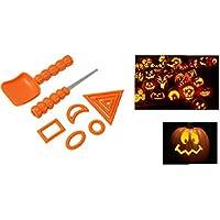 Kids Pumpkin Carving Kit 9 Piece Stencil Gadget- Halloween Jack O Lantern Face Pattern Tools by Pumpkin