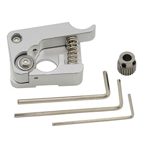 ReliaBot MK10 Extruder Aluminiumlegierung Rechte Hand 1,75mm Filament Extrusion 26 Zähne Drive Gear für 3D-Drucker Makerbot Reprap Prusa i3 Rostock Kossel Delta (Hand 5 Holz Rechte)