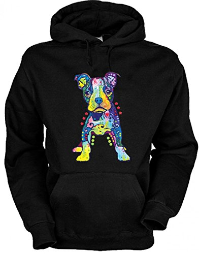 Neon Hoodie - Bunter Hund - Liebe Welpe - Kapuzenpullover als humorvolle Geschenk Idee Sweatshirt Hundefreunde Sweater, Größe:L