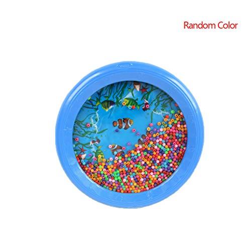 Coddington Zufällige Farbe Ocean Wave Musiklehrmittel Perkussionsinstrumente Kid Bead Drum Gentle Sea Sound Musiklehrmittel Baby-Kind-Schlaginstrumente Schlagzeug